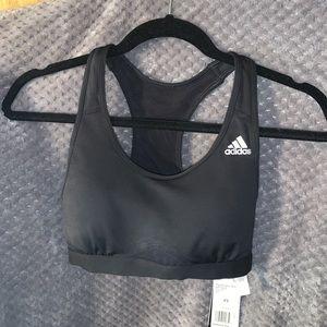 black adidas women's sports bra xs. brand new